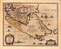Magellan Street Janssonius, Joan & Hondius, Hendric Freti Magellanici ac novi Freti vulgo Le Maire exactissima delineatio.   Amsterdam, 1638