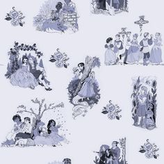 """""""Rough toile de jouy-style ideas I've been messing around with."""" Beautiful! via Taija's Drawing Board on tumblr."""