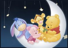 another pooh series. baby pooh, baby tiger, piglet and eeyore :) Disney Winnie The Pooh, Winnie Pooh Baby, Winnie The Pooh Pictures, Winne The Pooh, Winnie The Pooh Quotes, Winnie The Pooh Friends, Disney Love, Disney Art, Disney Pixar