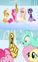 I found a FINGER in MLP FIM by FoxlyTails
