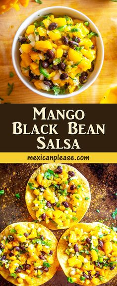 Mexican Food Recipes, Vegan Recipes, My Favorite Food, Favorite Recipes, Black Bean Salsa, Cooking Black Beans, English Food, Appetizer Recipes, Dips