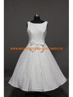 2014 Kurze Romantische Brautkleider aus Satin A-Linie