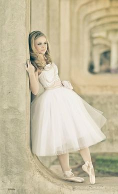 ballerina wedding dress. This is almost exactly how I imagined it <3
