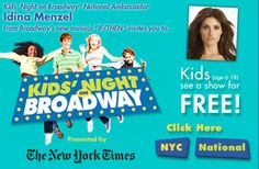 Kids Night On Broadway and KidzVuz Broadway Videos