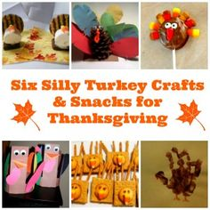Six Silly Turkey Crafts and Snacks for Thanksgiving - Saving Toward A Better Life