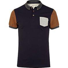 Men's colour block polo shirt #riverisland