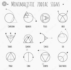 Resultado de imagen para minimalistic zodiac signs