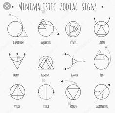 Image result for minimalist zodiac tattoo