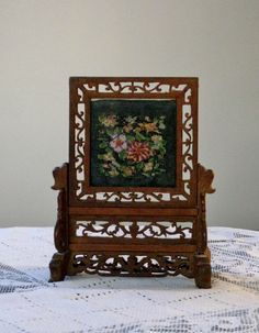 Check out our frames that stand selection for the very best in unique or custom, handmade pieces from our shops. Cross Stitch Needles, Cross Stitches, Frame Stand, Diy Dollhouse, Vintage Wood, Floral Embroidery, Wooden Frames, Needlework, Miniatures
