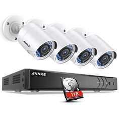 ANNKE Surveillance Camera System, 1080P 8CH DVR Home Security Camera System with 1TB HDD and (4) Ultra Clear 100ft Night Vision Full-HD 1080P Security...