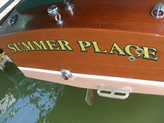 Our wooden boat: 1954 Chris Craft - named after our favorite song by Percy Faith :-)