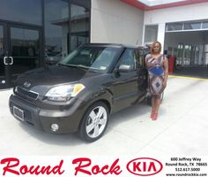 Congratulations to Carolyn Phillips on your #Kia #Soul purchase from Rudy Armendariz at Round Rock Kia! #NewCar