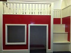 Childrens wooden mid sleeper playhouse den cabin loft bunk bed | eBay