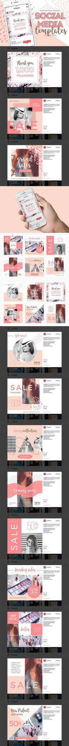 Social Media Templates Pack Vol.5. Social Media Templates