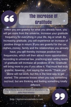 Law of Attraction: The Increase of Gratitude Book Extracts, Law Of Attraction Tips, Self Development, Motivationalquotes, Inspire Me, Affirmations, Spirituality, Universe, Healing