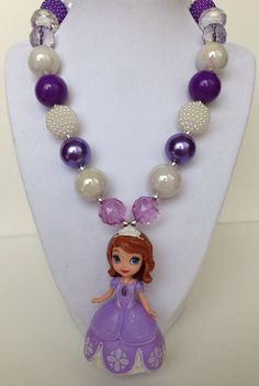 Sophia the first chunky necklace..chunky bead by GirlzNGlitter, $20.00