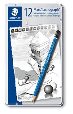 954db53518 Buy Staedtler Mars Lumograph Drawing Pencil for Design and Drafting - Pack  of 12