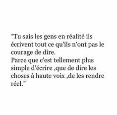 Voilà , c'est plus facile ... - #Cest #facile #Voilà Realist Quotes, Sad Quotes, Words Quotes, Wise Words, Best Quotes, Love Quotes, French Words, French Quotes, Pretty Words