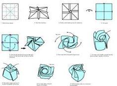 origami rose - Google Search