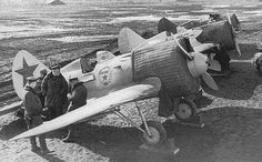 """Polikarpov I-16 - The I-16 was introduced in the mid-1930s and formed the backbone of the Soviet Air Force at the beginning of World War II. The diminutive fighter, nicknamed """"Ishak"""" (""""Donkey"""") by Soviet pilots, prominently featured in the Second Sino-Japanese War, the Battle of Khalkhin Gol and the Spanish Civil War—where it was called the Rata (""""Rat"""") by the Nationalists or Mosca (""""Fly"""") by the Republicans. The Finnish nickname for I-16 was Siipiorava (""""Flying Squirrel""""). Source: Wikipedia"""