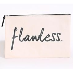 Flawless Faux Leather Makeup Pouch ($9.99) ❤ liked on Polyvore featuring beauty products, beauty accessories and bags & cases