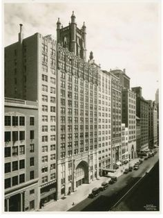 Once upon a time...a church was built with a hotel inside it. Calvary Baptist Church on West 57th Street, was built in 1929 (on the site of an earlier building) with an apartment building attached - which in fact became a hotel - the Hotel Salisbury (now known as the Salisbury Hotel.). (NYPL, 1931)