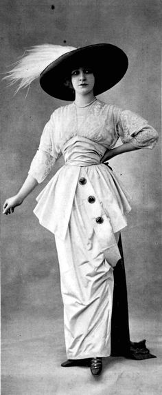 Afternoon dress by Beer, photo by Talbot, Les Modes April 1912.