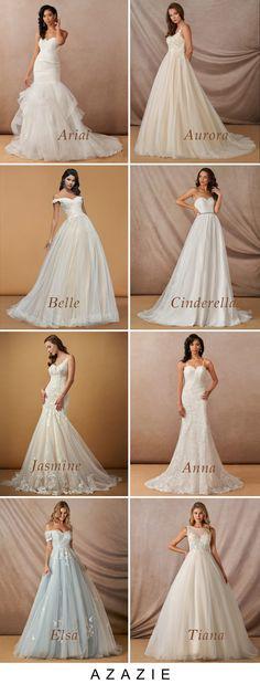 Disney World Wedding, Disney Wedding Dresses, Princess Wedding Dresses, Colored Wedding Dresses, Wedding Dress Styles, Dream Wedding Dresses, Wedding Gowns, Cute Wedding Ideas, Perfect Wedding