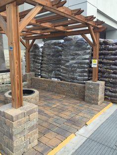 Lowes find - potential for the backyard Backyard Pavilion, Backyard Patio Designs, Backyard Pergola, Pergola Designs, Pergola Plans, Backyard Landscaping, Gazebo, Patio Seating, Back Patio