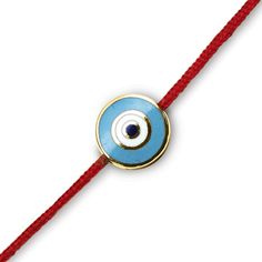 Round Evil Eye on a Red Cord – Aaron Basha Corp.