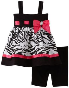 Sweet Heart Rose Baby-girls Infant Zebra Bike Short Set by janis Toddler Outfits, Kids Outfits, Cute Outfits, Short Niña, Short Set, My Baby Girl, Baby Girls, Little Girl Dresses, Girls Dresses