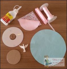 Cd Crafts, Diy And Crafts, Crafts For Kids, Arts And Crafts, Recycled Cds, Cd Diy, Baby Party, Felt Art, Fabric Art