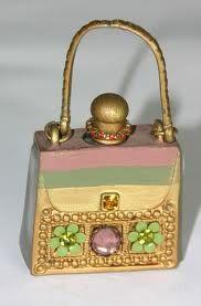Unique Perfume Bottles: a pastel purse! What a great perfume idea.