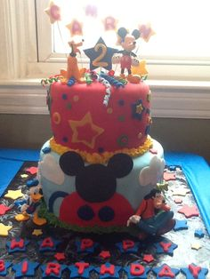 Mickey Mouse Club House Cake. 7-13-13
