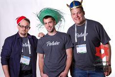 Part of development team hamming it up at TechCrunch Disrupt