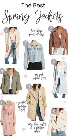 8+ Perfect Jackets for Spring 2018!