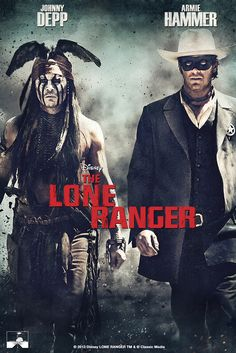 The Lone Ranger Movie Poster - Johnny Depp, Armie Hammer, Tom Wilkinson…