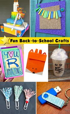 Fun School-Themed Crafts for Kids! Make the new school year fun for kids with easy and engaging kids crafts.