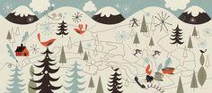 Tracy Walker Illustration - Illustration - middlebury map Vermont ©tracywalker