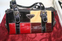 Designer Handbag with detachable shoulder by Castawayacres on Etsy