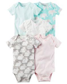 Baby Girl 5-Pack Short-Sleeve Original Bodysuits   Carters.com