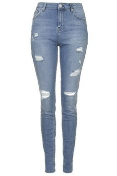 TALL MOTO Bleach Authentic Ripped Skinny Jeans – Bleach