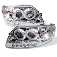 Spyder Auto 5010278 LED Halo Projector Headlights ChromeClear *** See this great product by click affiliate link Amazon.com