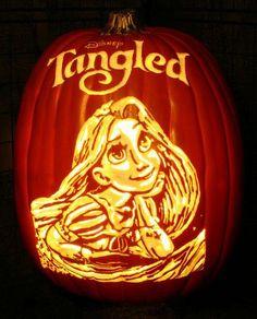 Tinkerbell Halloween Pumpkin #halloween #pumpkin...