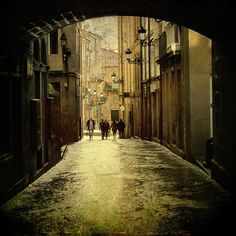 Streets of Ourense, Galicia Spain
