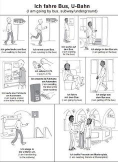 Bildwörterbuch - im Bus