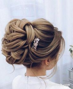 20 Best Formal / Wedding Hairstyles to Copy in 2019 Elstiles long wedding updo hairstyles for bride – Long Hair Style Trends Best Wedding Hairstyles, Bride Hairstyles, Vintage Hairstyles, Cool Hairstyles, Hairstyle Ideas, Layered Hairstyles, Peinado Updo, Wedding Updo, Formal Wedding