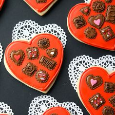 If you're a cookie decorating pro, these you'll love this idea: Though these cookies might look like they're housing a bunch of chocolates, they're actually just designs made from icing.