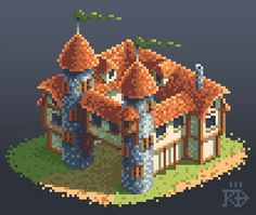 Isometric pixel art medieval / fantasy building by RGBfumes on DeviantArt