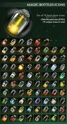 Magic Bottles Icons Download here: https://graphicriver.net/item/magic-bottles-icons/19679073?ref=KlitVogli
